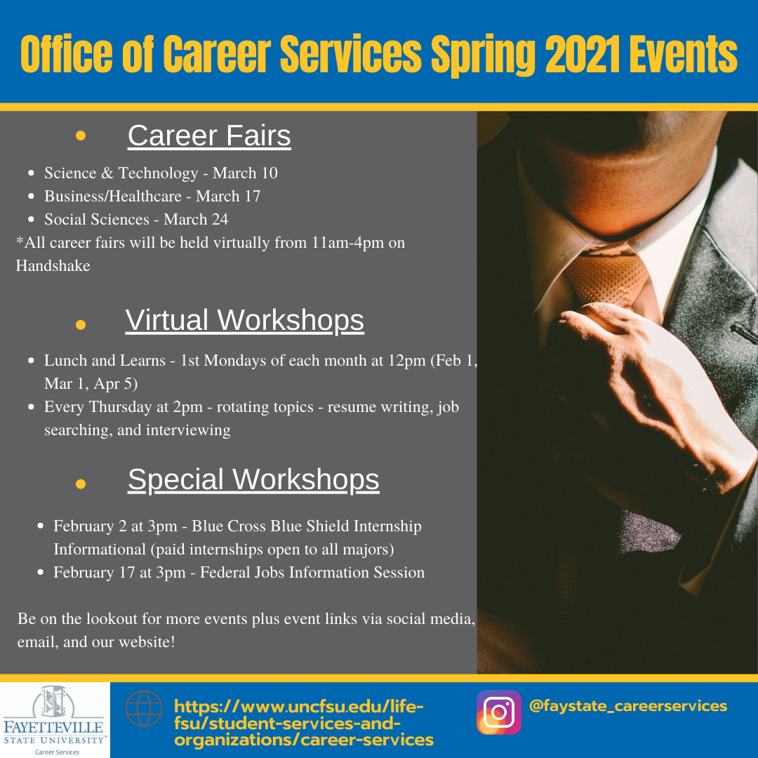 Office of Career Services Spring Events