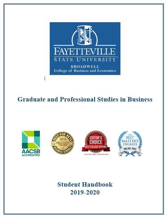 Graduate and Professional Studies in Business Student Handbook 2019-2020