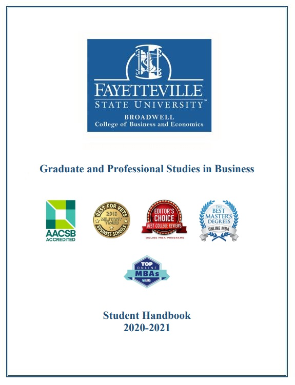 Graduate and Professional Studies in Business Student Handbook 2019-2020