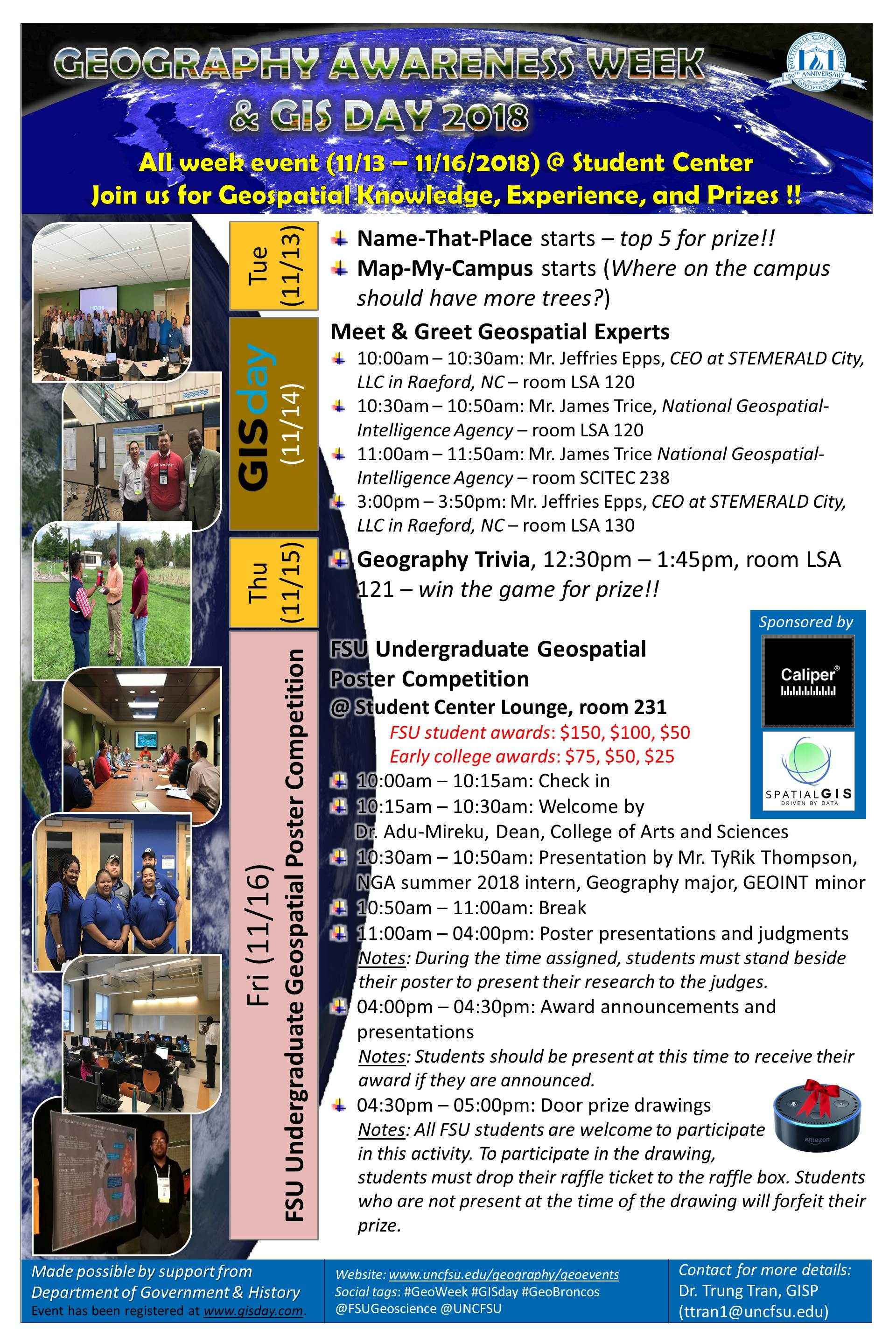 GeoWeek and GIS Day 2018