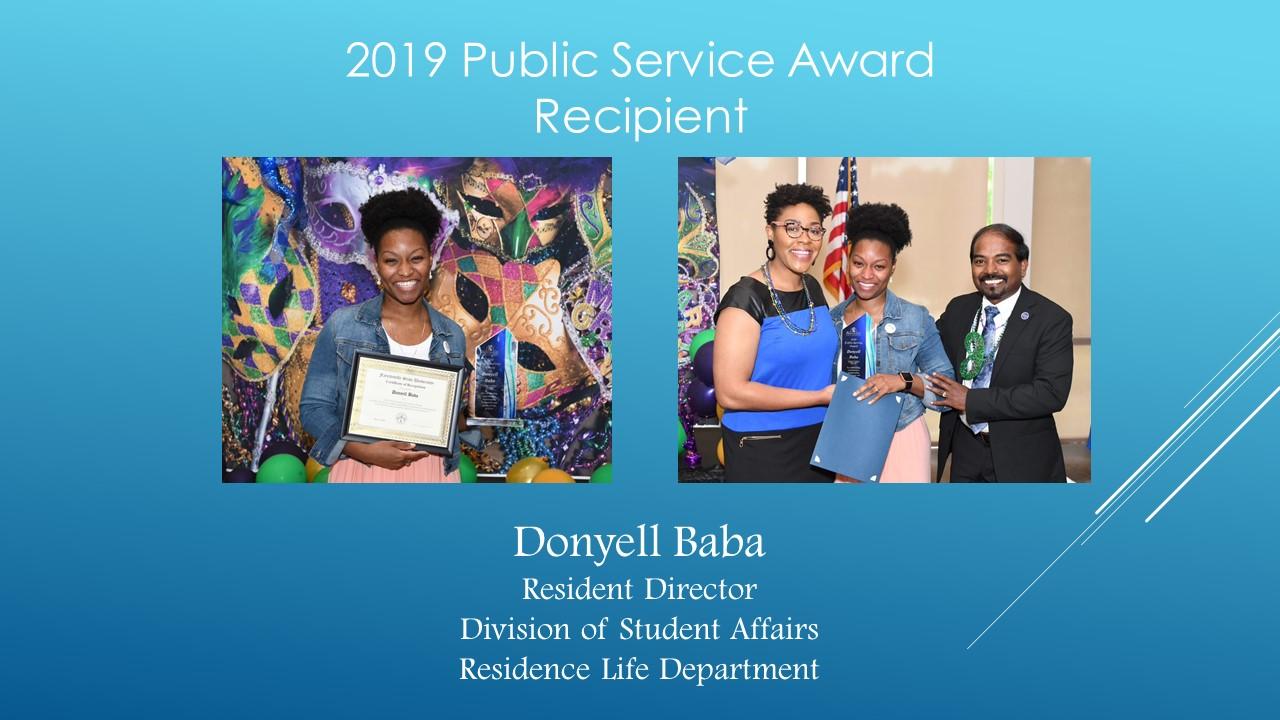 2019 Public Service Winner