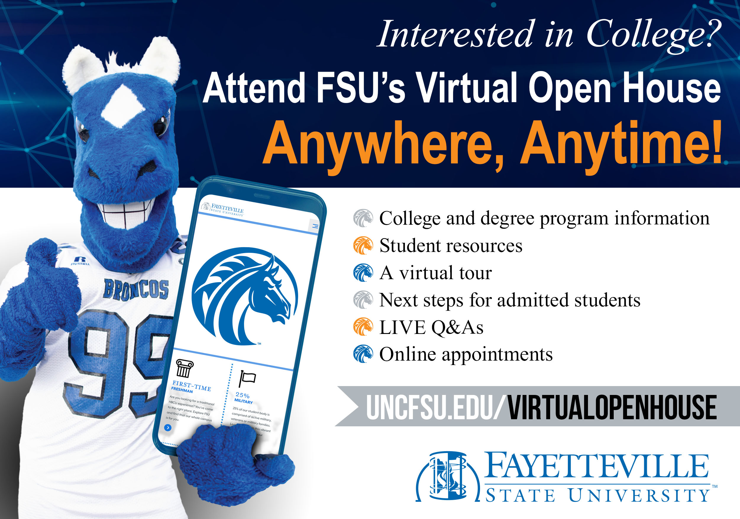 FSU online open house email graphic