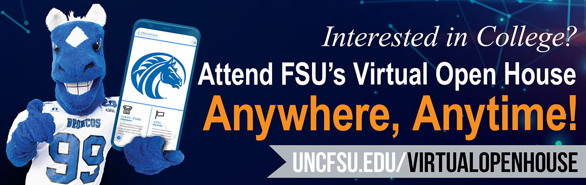 FSU online open house email signature graphic