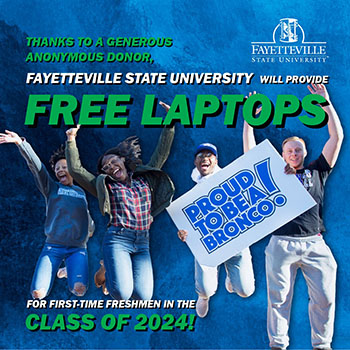 Thanks to a generous anonymous donor, FSU will provide free laptops for first-time freshmen in the class of 2024