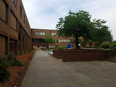 College of Education Building and Courtyard