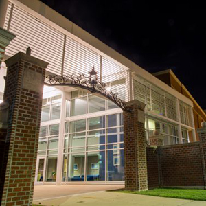 seabrook auditorium builidng and gates