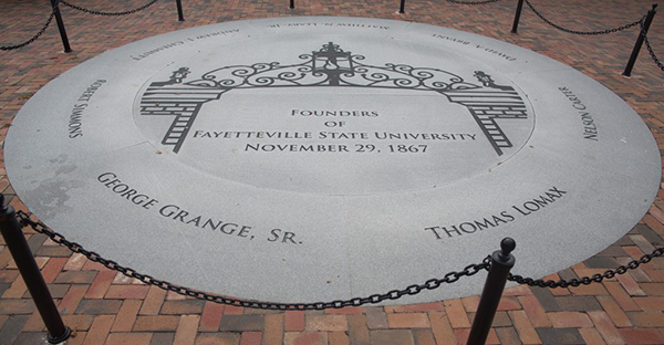 Seal in front of student center