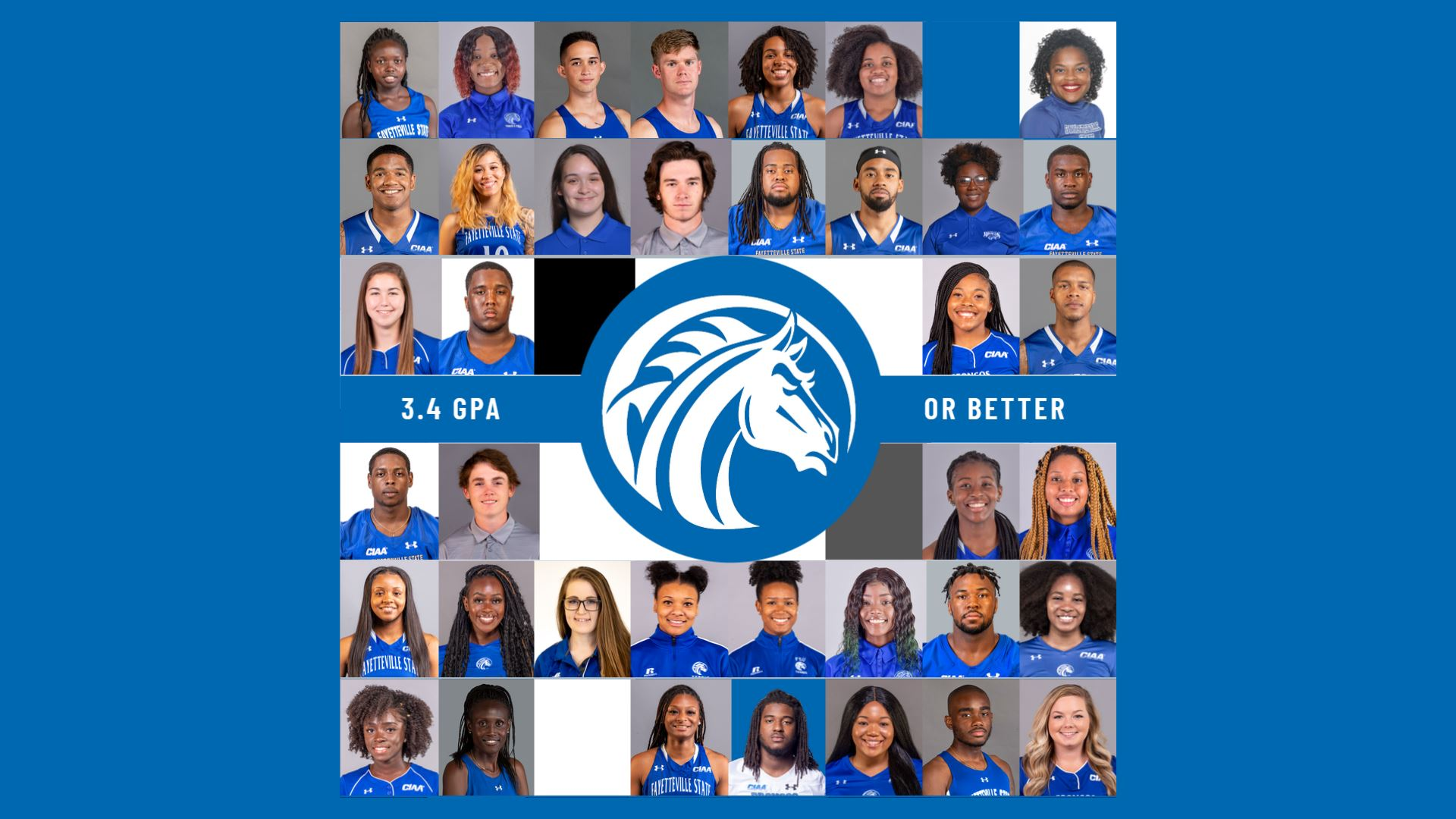 Student-Athletes with 3.4 GPA or better