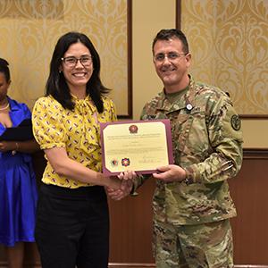 Rachel Gruber receives award