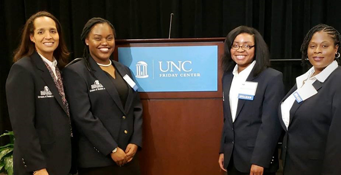 Students at UNC conference