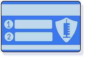 icon, vaccine card