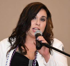 Kat presenting at May 2019 Pinning