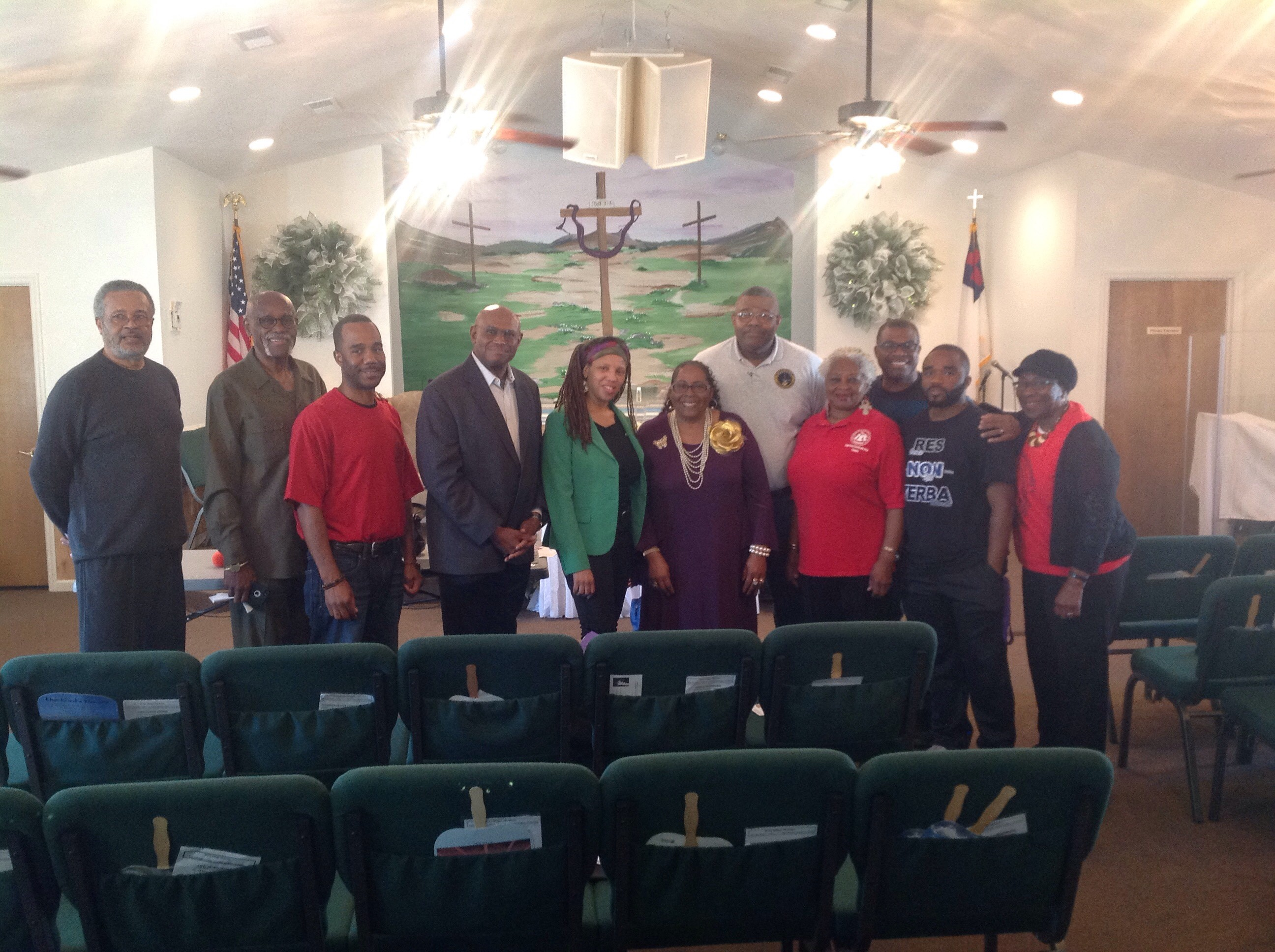 Members of the National Association of Black Social Workers pose for a photo on their day of service.