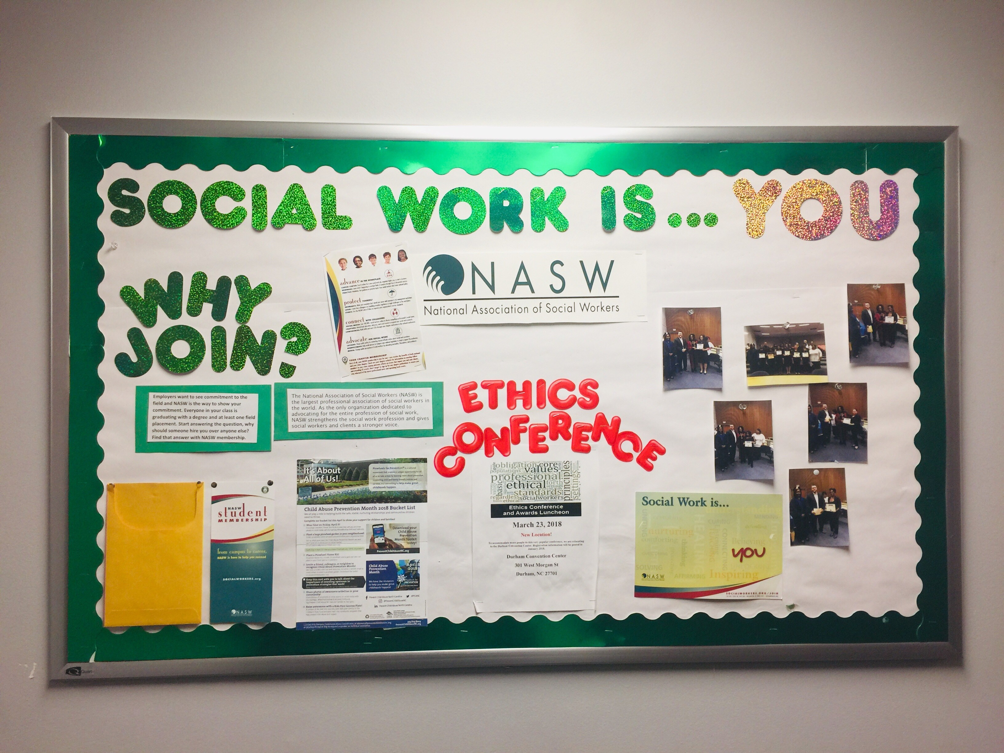 National Association of Social Workers Bulletin Board